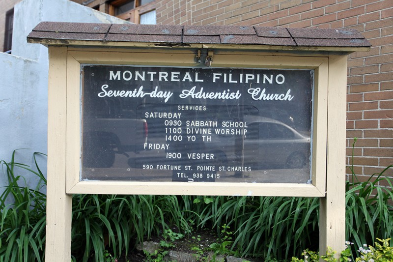 Vernacular Typography Montreal Filipino Church Sign