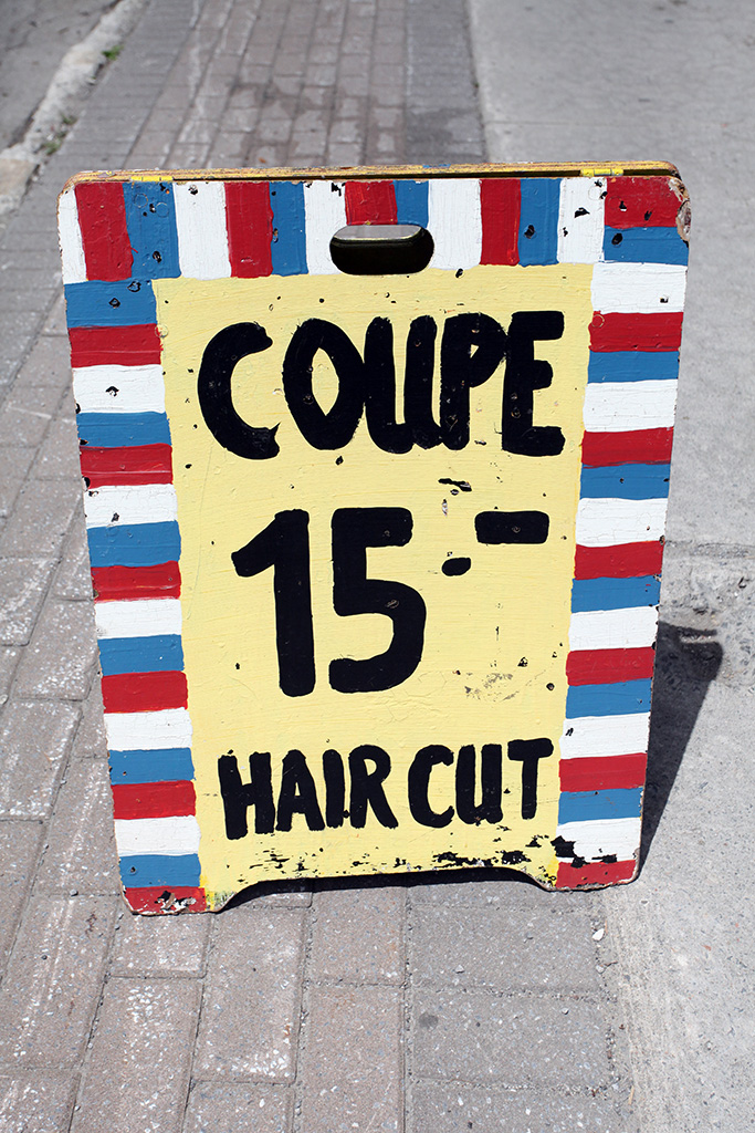 Vernacular Typography Montreal Coupe 15 Hand Painted Sign