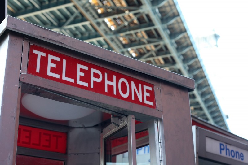 Woodward Vernacular Typography DUMBO Spielberg Signage Telephone Booth