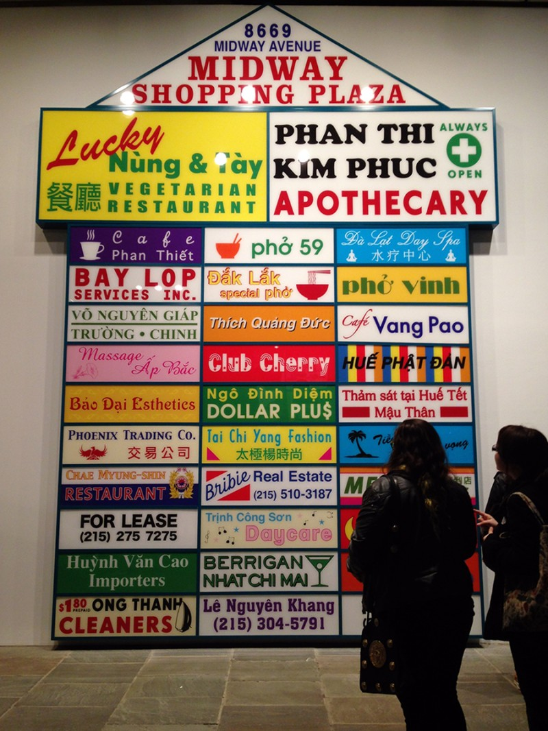 Vernacular Typography April Whitney Biennial Midway Shopping Plaza Ken Lum