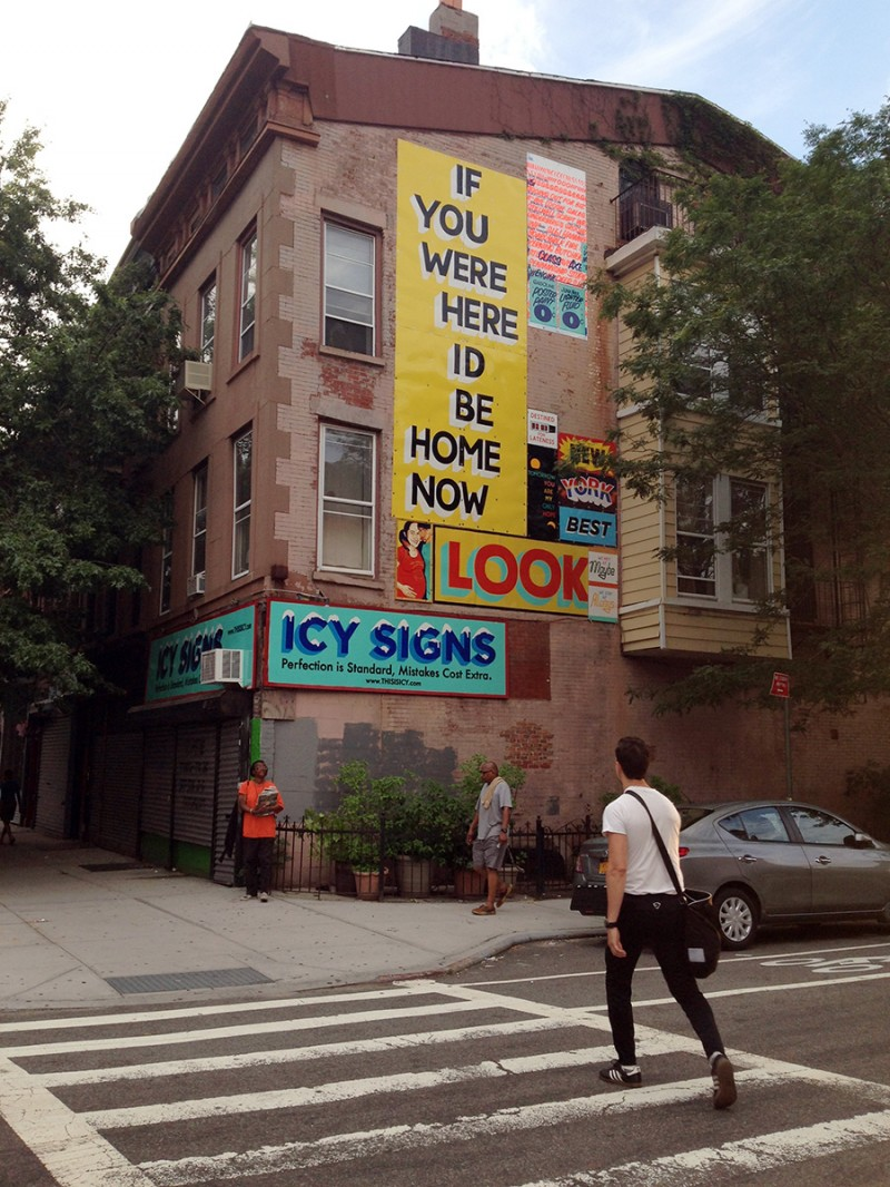 Vernacular Typography July Brooklyn ICY Signs